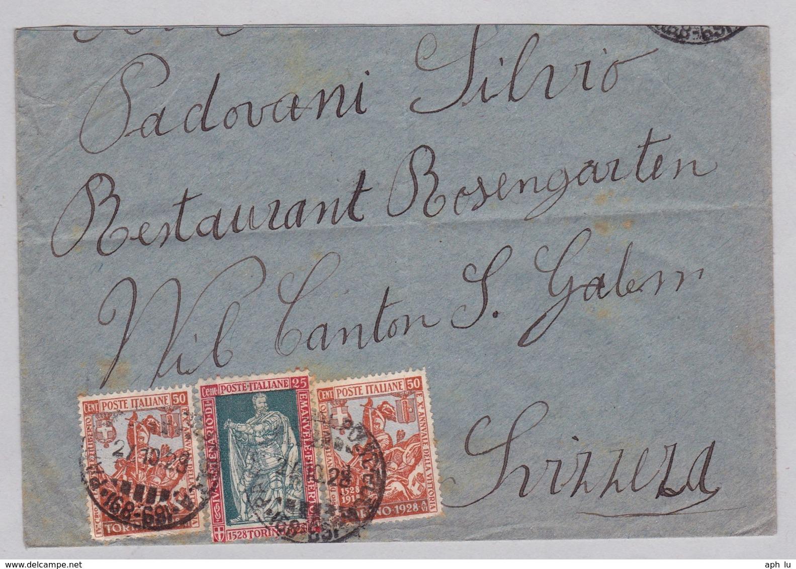 Brief In Die Schweiz (br6247) - 1900-44 Vittorio Emanuele III