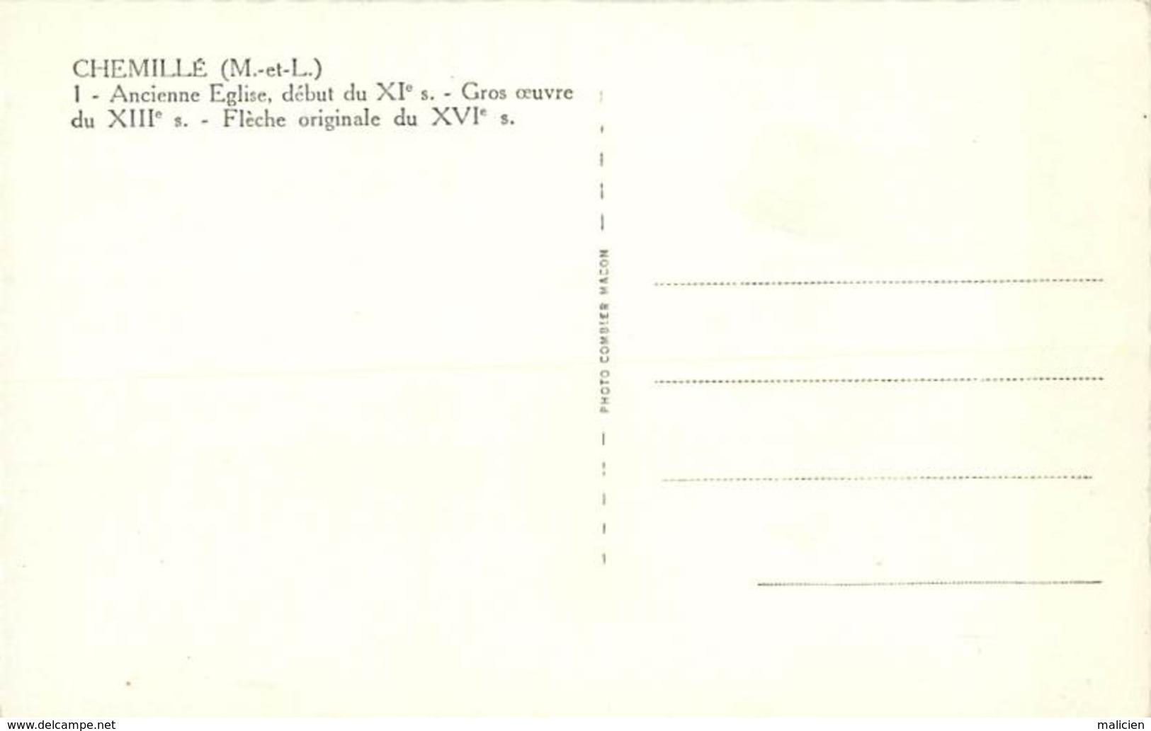-dpts Div -ref-AJ339- Maine Et Loire - Chemillé - Ancienne Eglise - Carte Bon Etat - - Chemille
