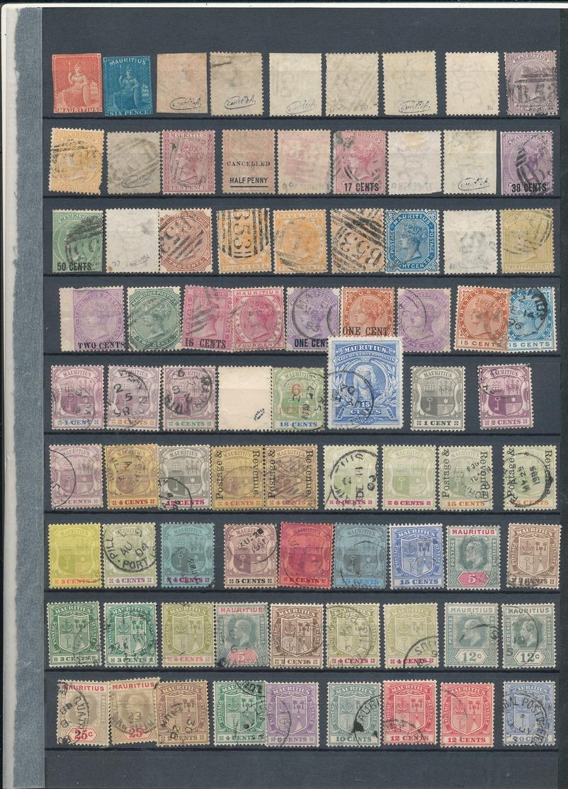 LOT DE TIMBRES DES ILES MAURICES 8 TIMBRES SIGNES. NEUFS* ET OBLITERES - Mauritius (...-1967)