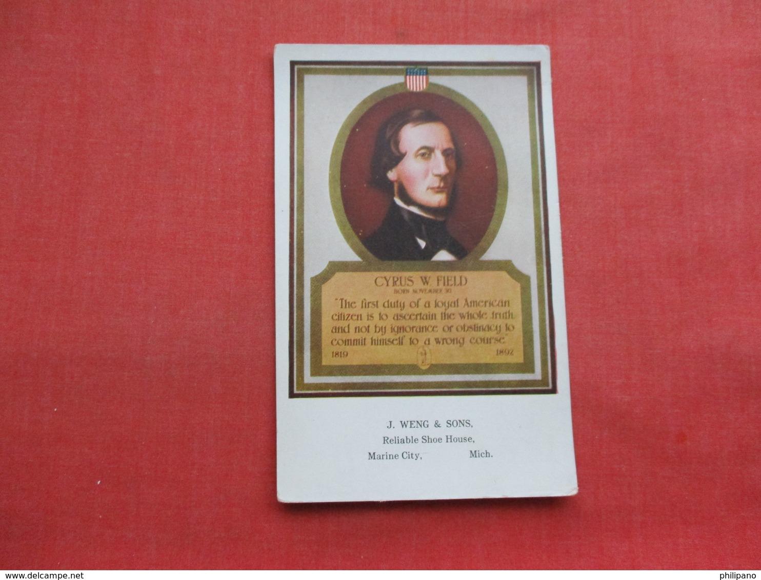 Cyrpus W Field     Ref 3356 - Historical Famous People