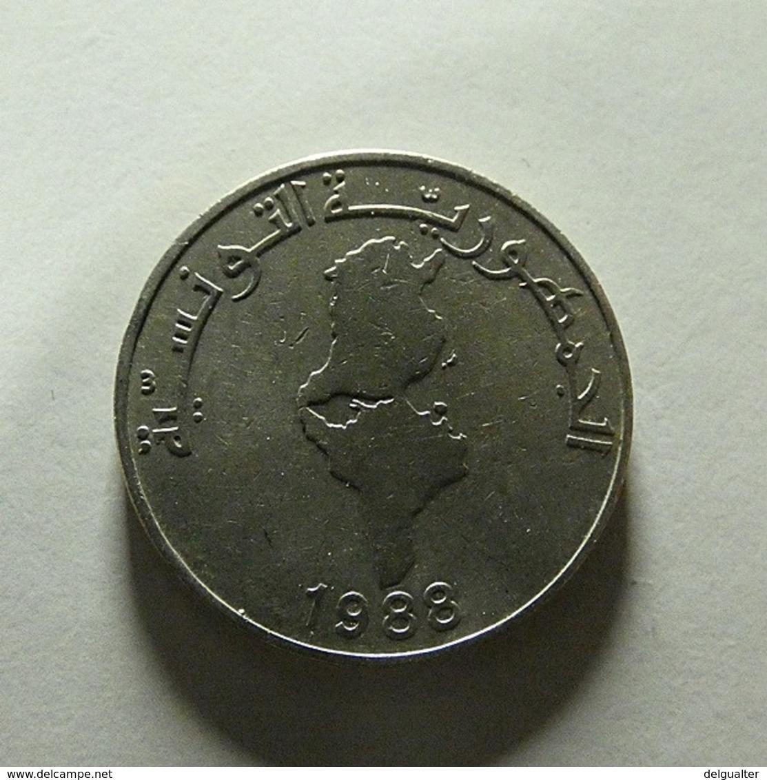Tunisia 1 Dinar 1988 - Tunisia
