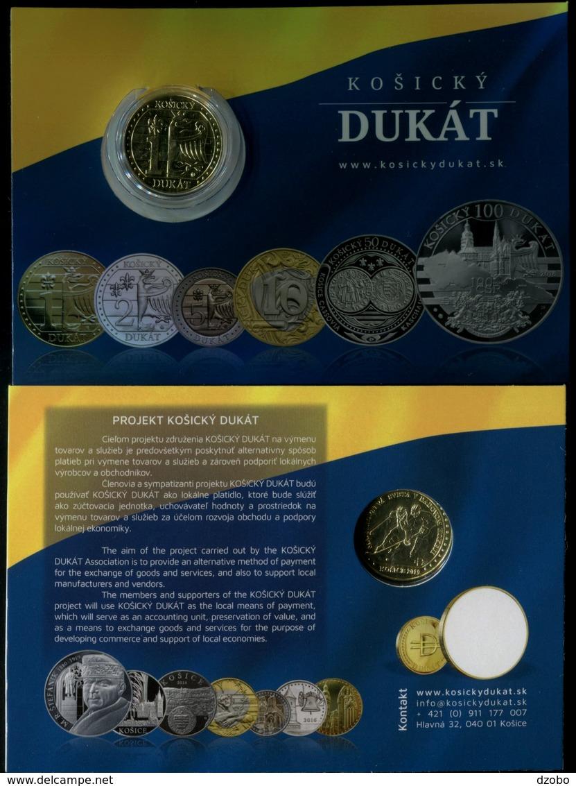 902-SLOVAKIA 1 DUKAT Košice Coincard 1000 Pcs Quality BU 2019-Ice Hockey World Championships Regional Currency - Slovakia
