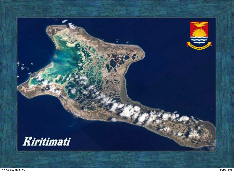 Kiribati Kiritimati Atoll Satellite View New Postcard - Kiribati