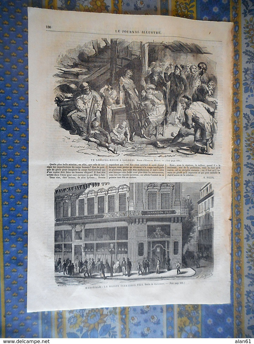 LE JOURNAL ILLUSTRE 23/04/1865 EVREUX ITALIE ROME PAPE PRINCE IMPERIAL CHINE FLEUVE FU MIN ASIN MARSEILLE TERRASSON - Periódicos