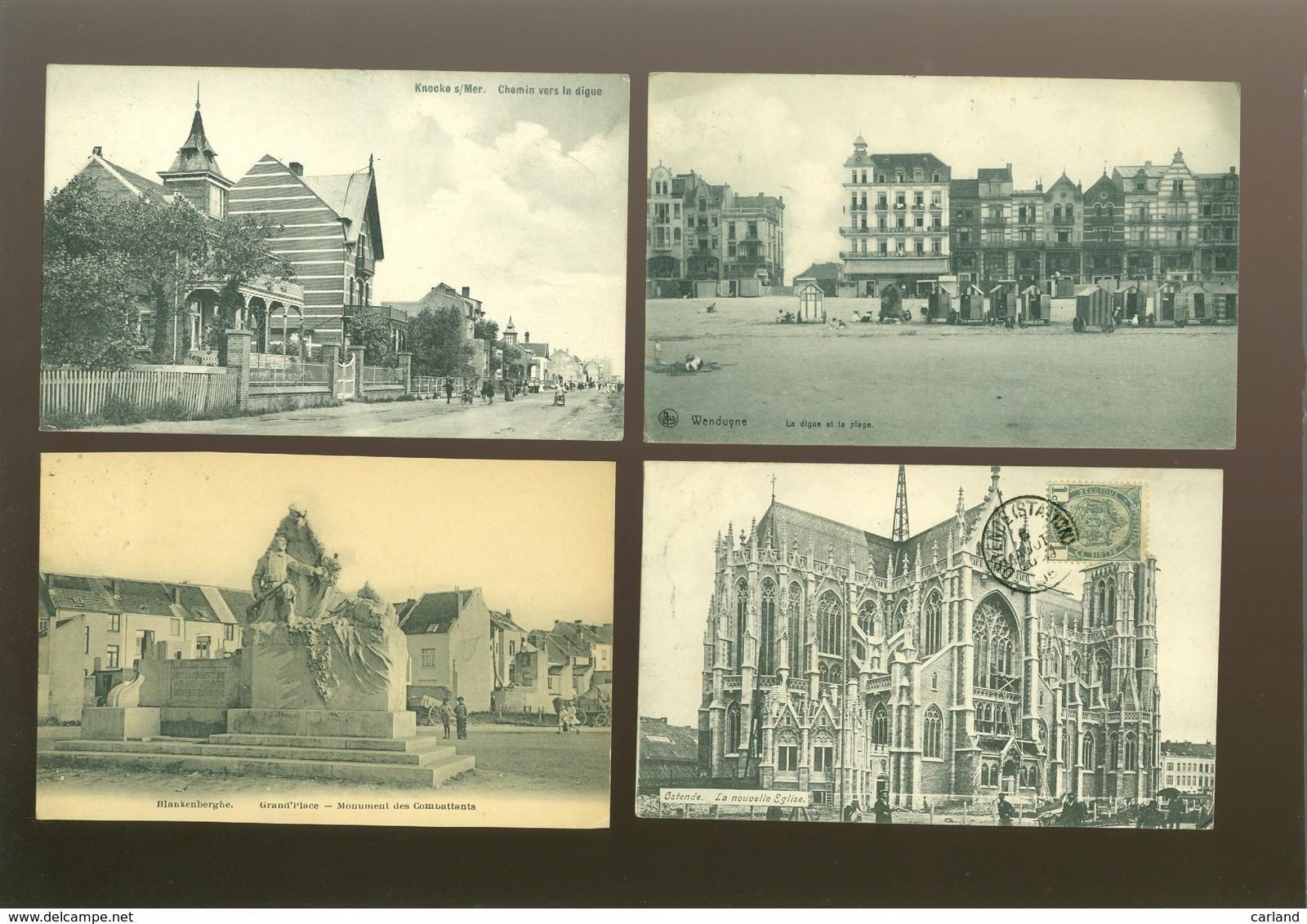 Beau Lot De 60 Cartes Postales De Belgique  La Côte      Mooi Lot Van 60 Postkaarten Van België Kust - 60 Scans - 5 - 99 Cartes