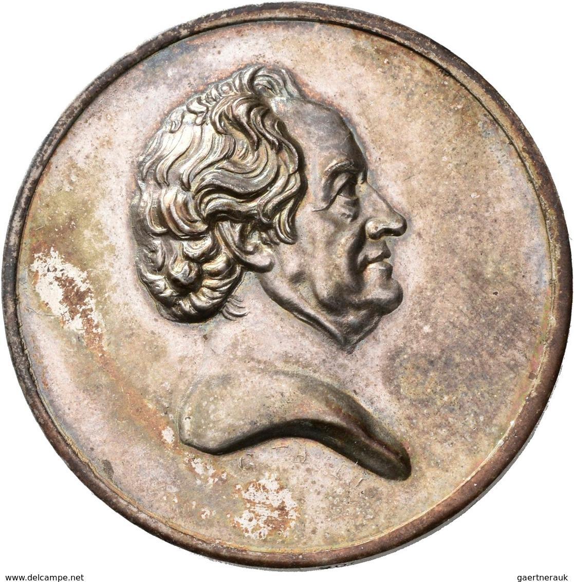 Medaillen Deutschland: Weimar: Johann Wolfgang Von Goethe 1749-1832: Silbermedaille 1825, Stempel Vo - Germany