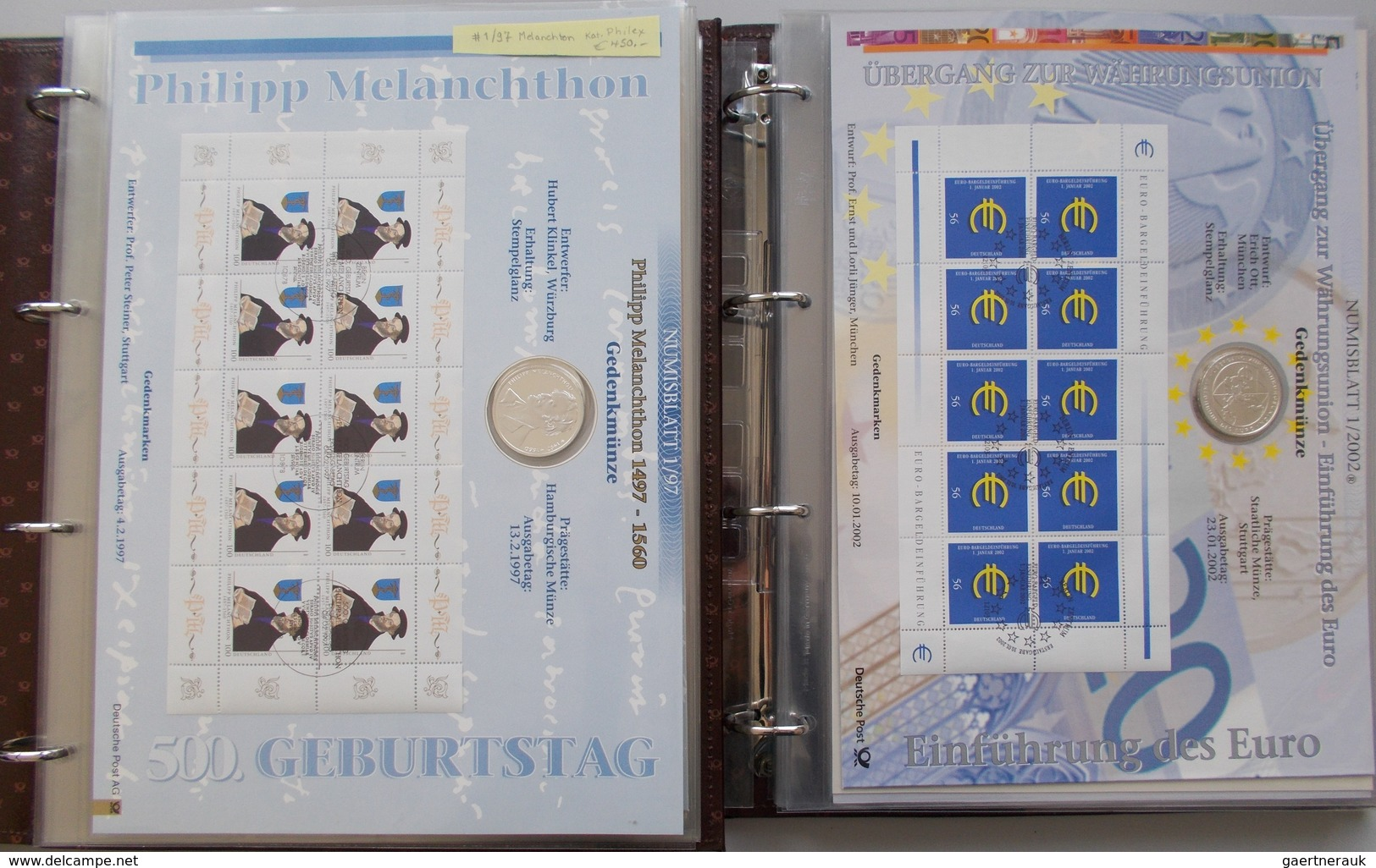 Numisbriefe, Numisblätter: Komplette Sammlung In 2 Bänder: 28 Numisblätter Ab Nr. 1/1997 Philipp Mel - Coins