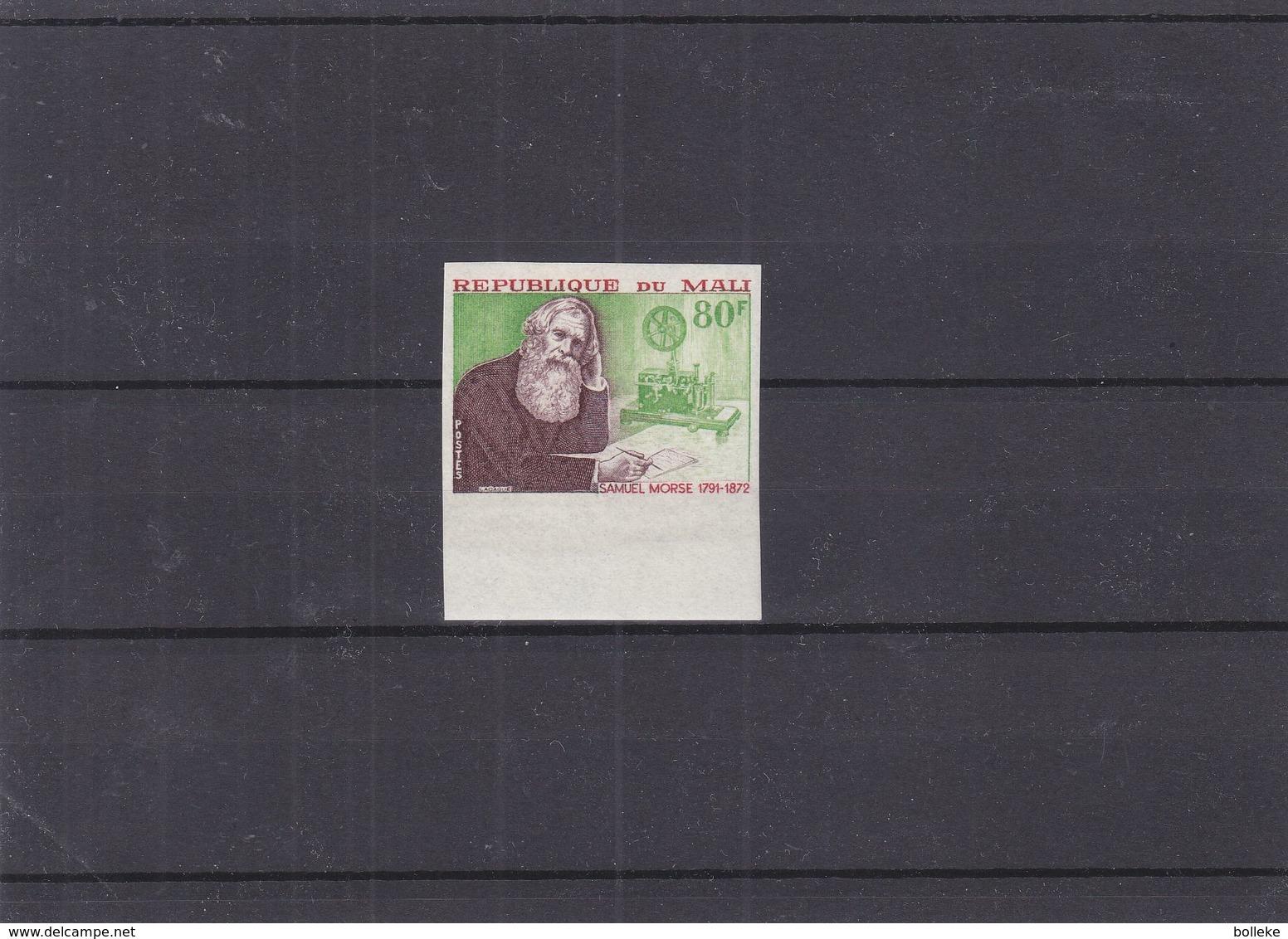Mali - Yvert 171 ** - NON Dentelé - Samuel Morse - Rare - Faible Tirage - Mali (1959-...)