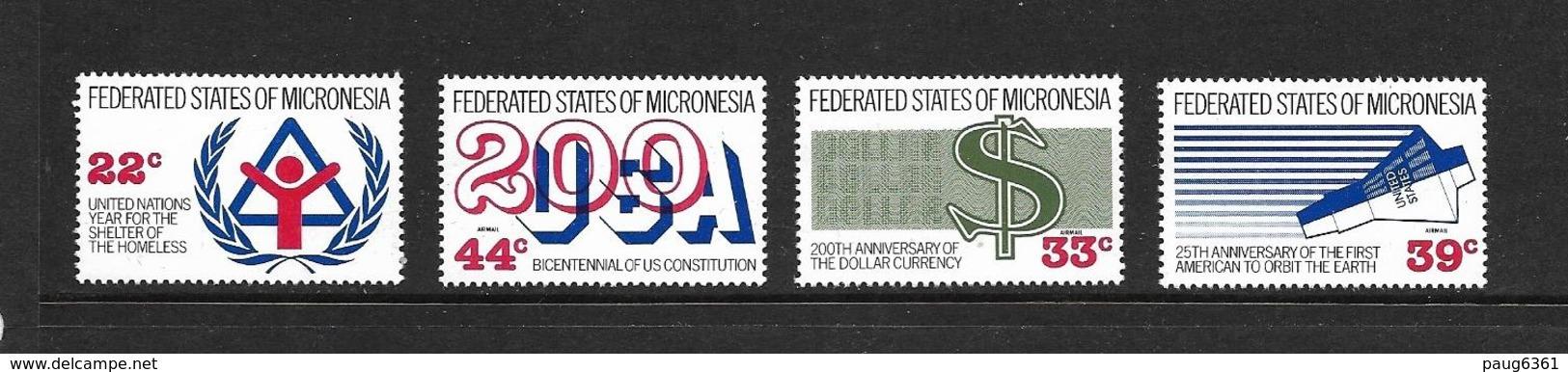 MICRONESIE 1987 EVENEMENTS  YVERT N°44-A24/26 NEUF MNH** - Micronésie