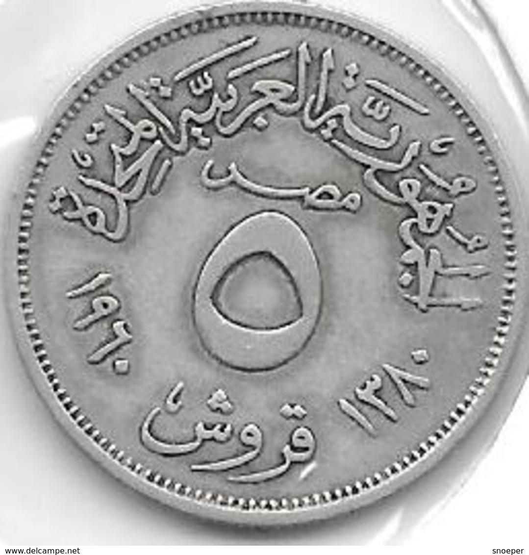 *egypte 5 Milieme 1960 Km 394  Xf+ - Egypte