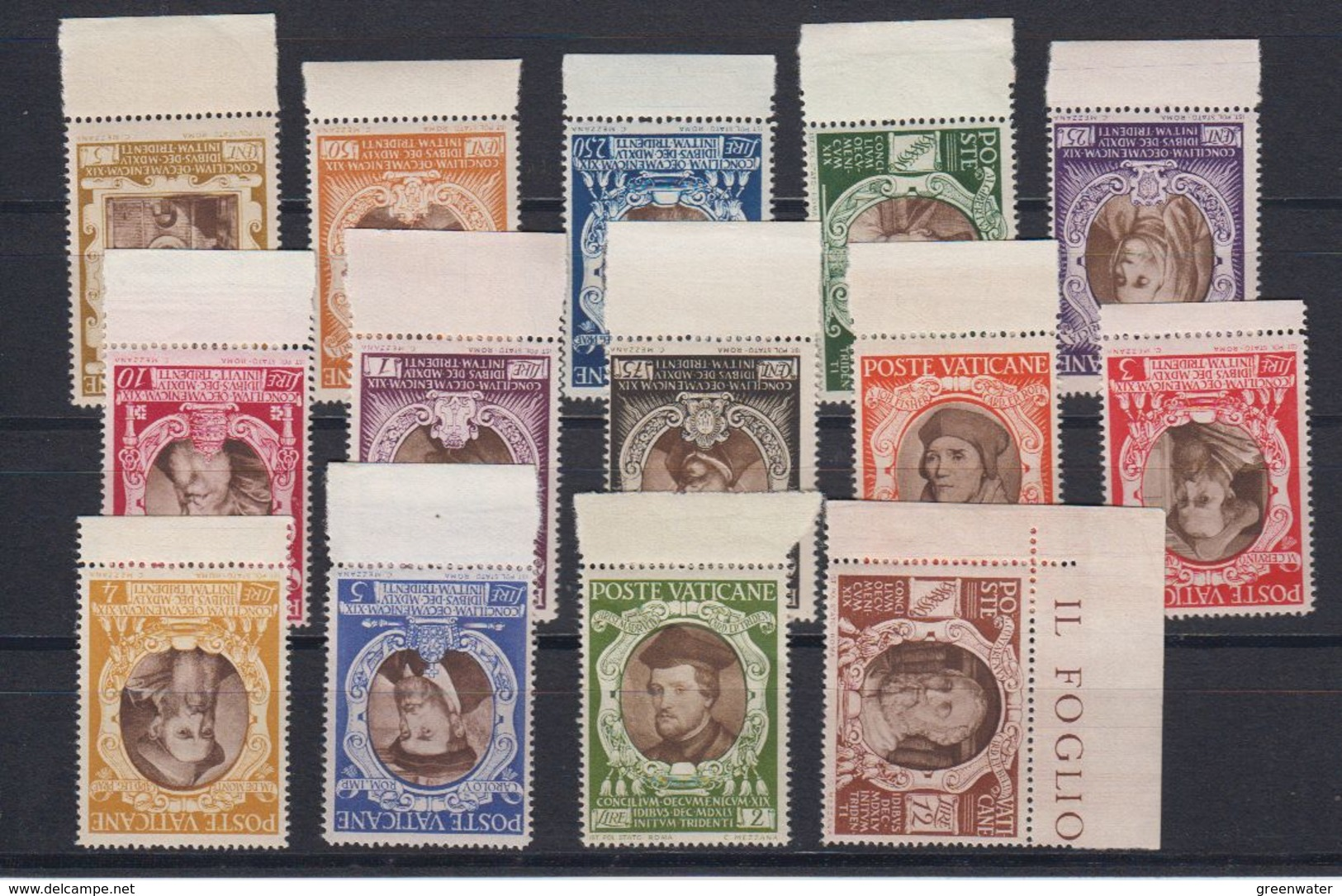 Vatican City 1946 Tridentinischen Konzils 14v (+margin) ** Mnh (42758) - Vaticaanstad