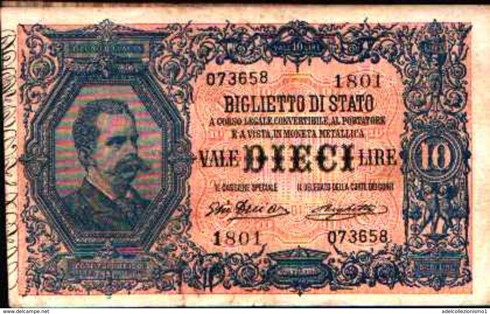 1791) 10 LIRE VITTORIO EMANUELE III (EFFIGE DI UMBERTO I)-DEC. 23-4-1914 -SPL - [ 1] …-1946 : Kingdom