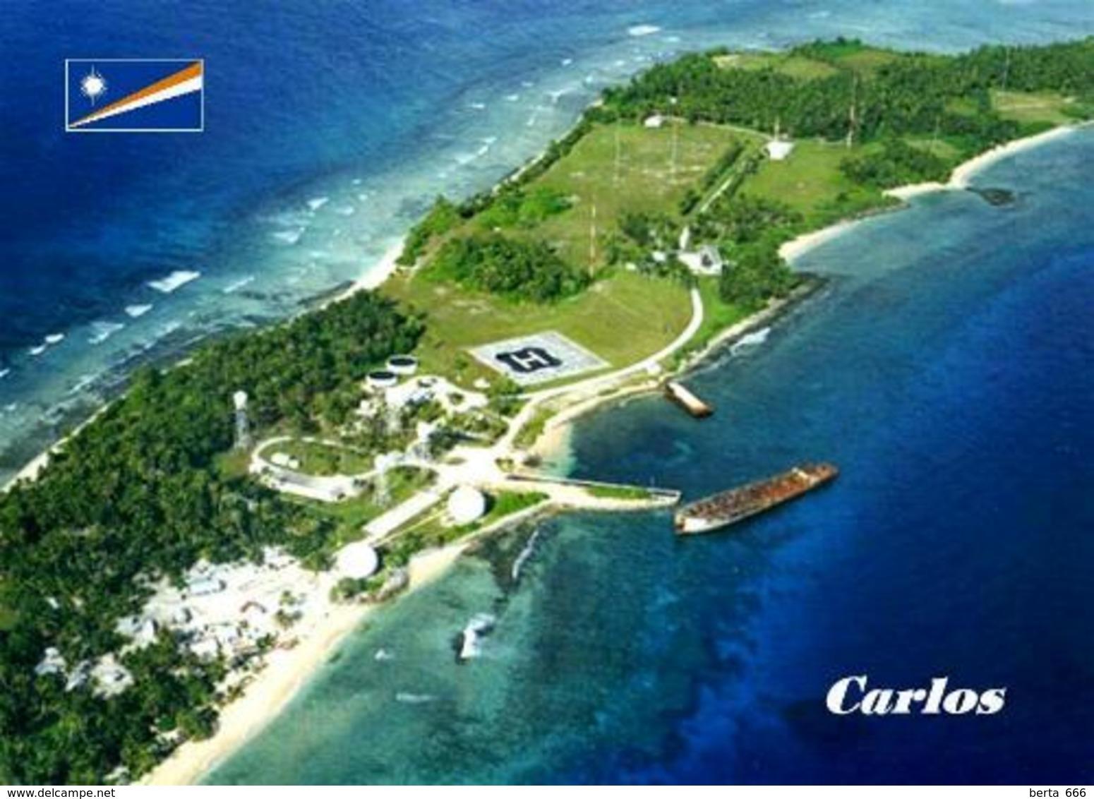 Marshall Islands Carlos Aerial View New Postcard Marshallinseln AK - Marshall