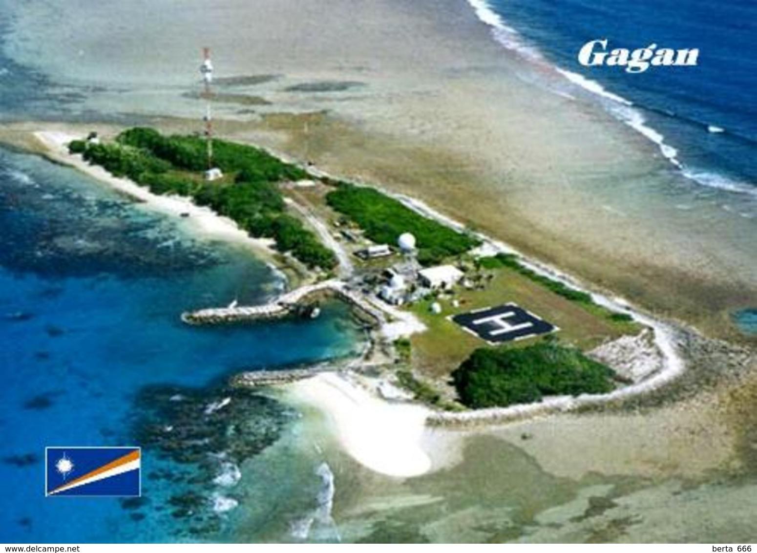 Marshall Islands Gagan Aerial View New Postcard Marshallinseln AK - Marshall