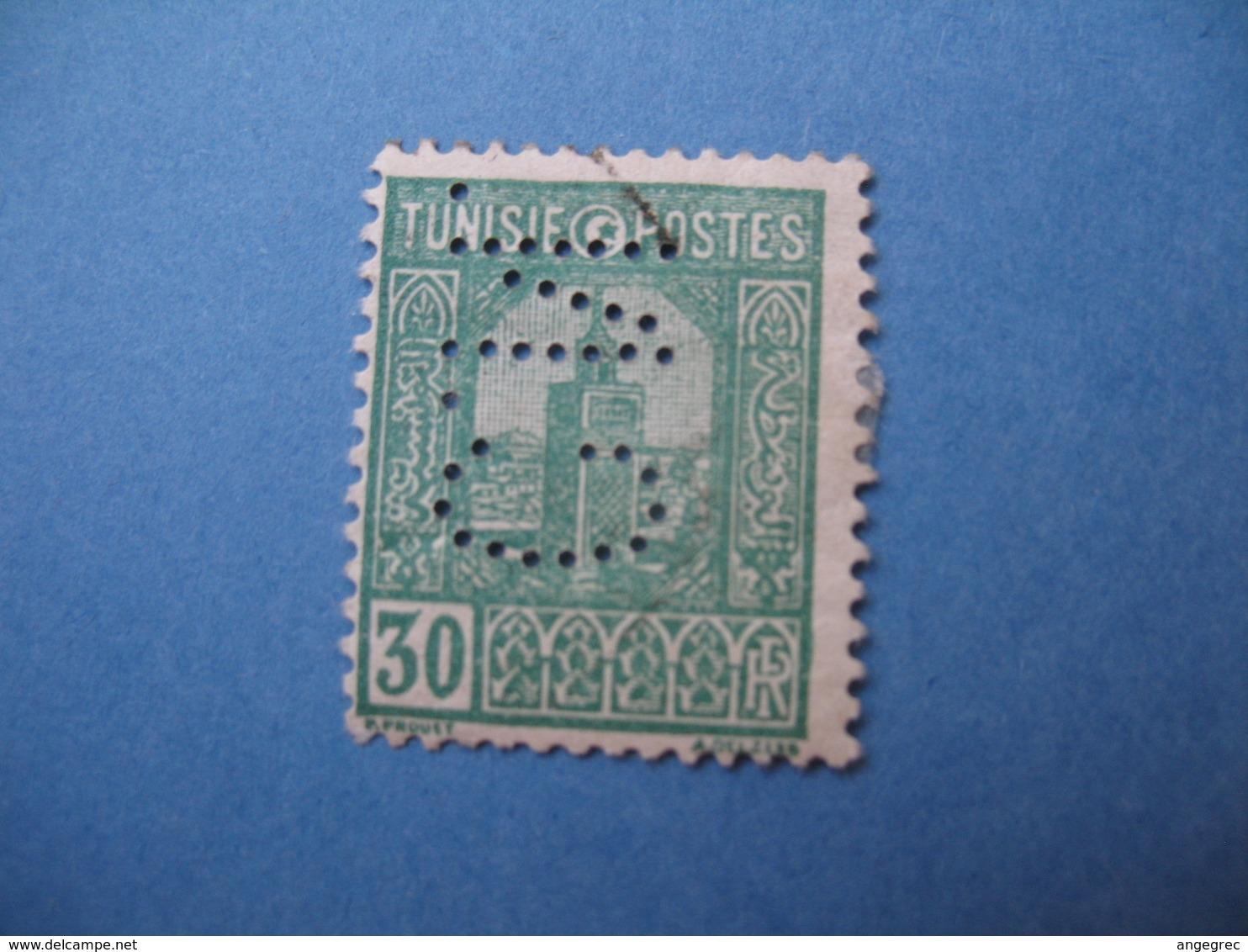 Perforé  Perfin   Tunisie ,   Perforation :   CN 9    à Voir - Tunisie (1888-1955)