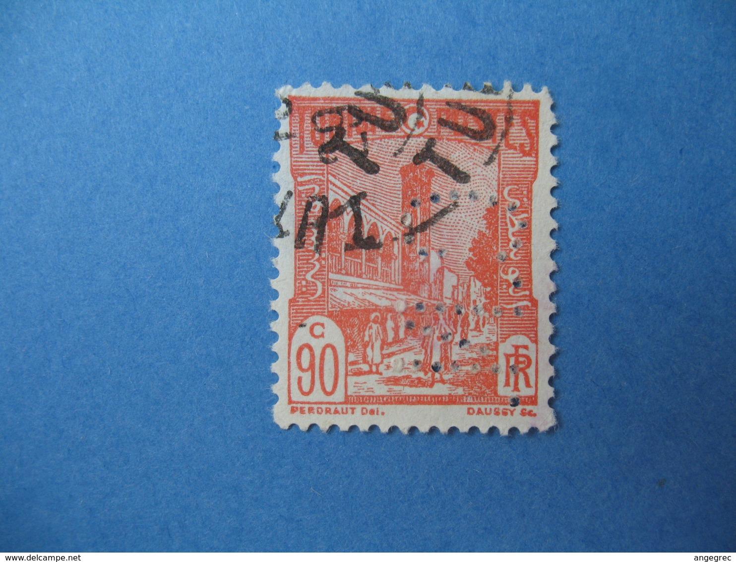 Perforé  Perfin   Tunisie ,   Perforation :   CN 9    à Voir - Autres