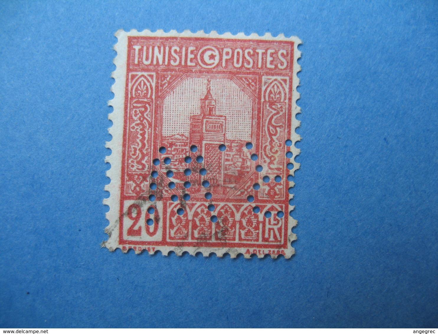 Perforé  Perfin   Tunisie ,   Perforation :   RW 17    à Voir - Tunisie (1888-1955)