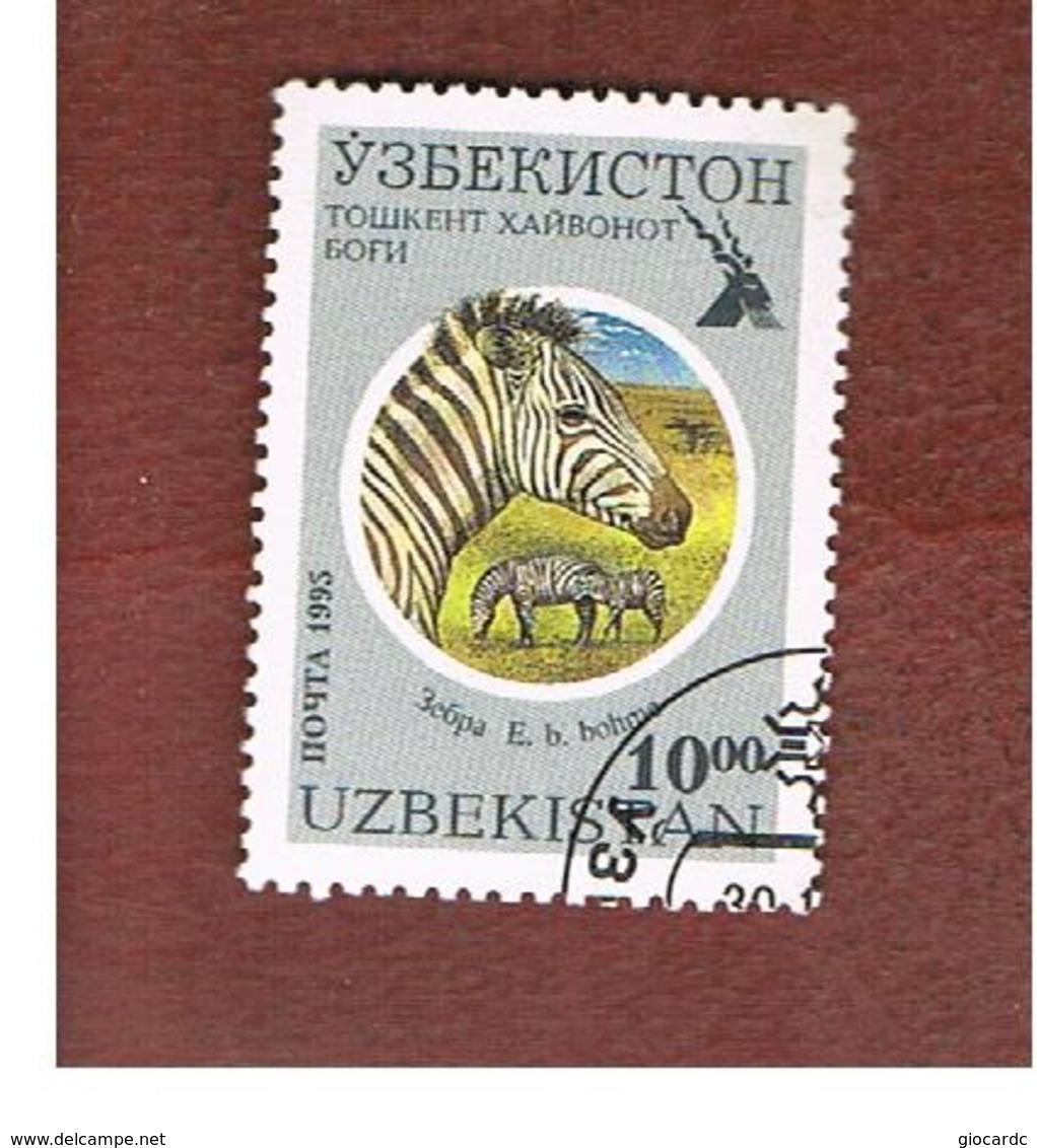 UZBEKISTAN   - SG 100   - 1995 TASHKENT ZOO:  GRANT' S ZEBRA   -   USED - Uzbekistan