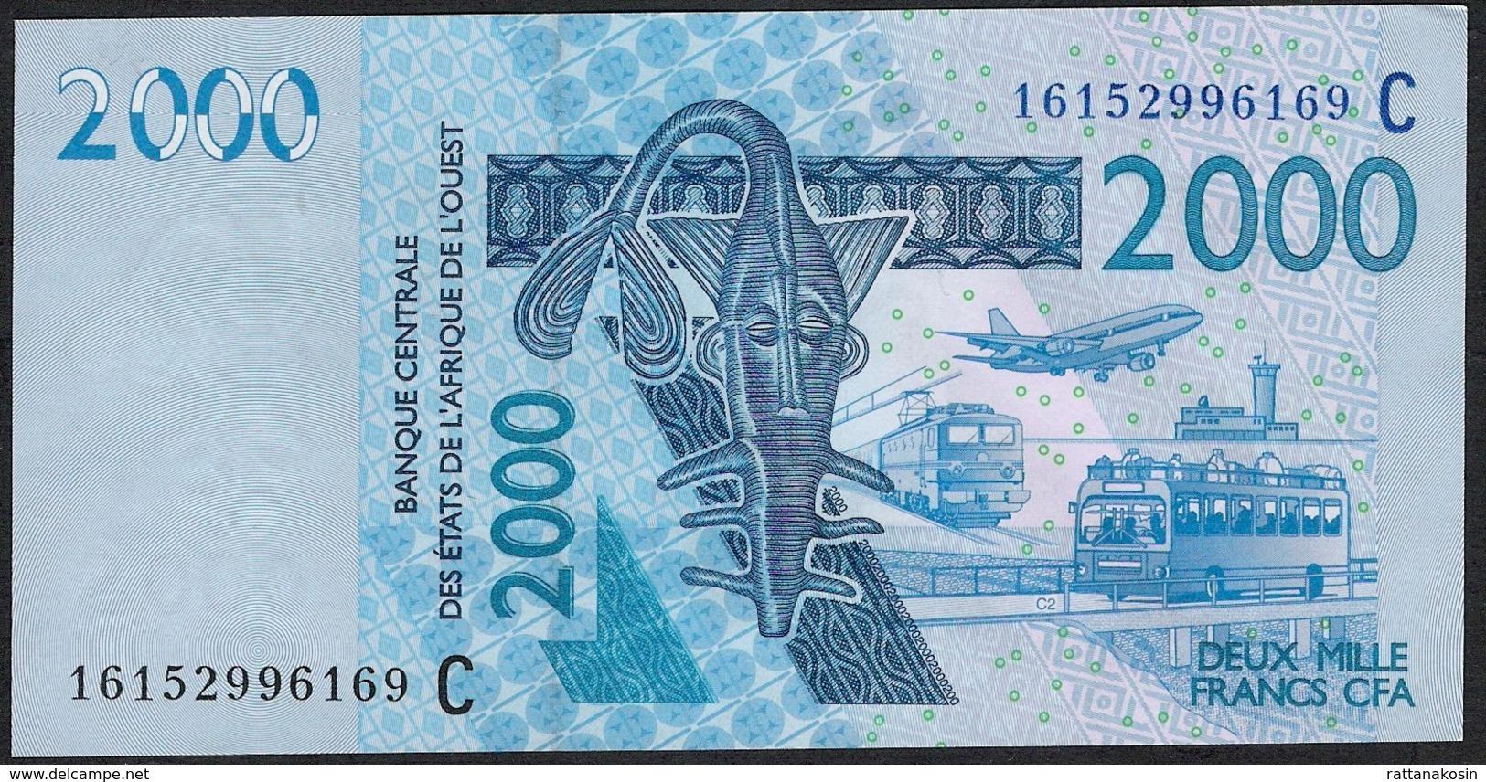W.A.S. Letter C = Burkina Faso P316Cp 2000 Francs (20)16 Date = 2016   UNC. - Burkina Faso
