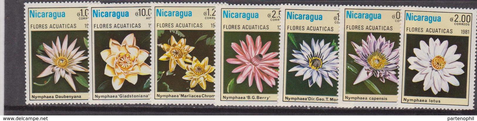 NICARAGUA 1981 Fiori Flowers  - MNH Set - Nicaragua