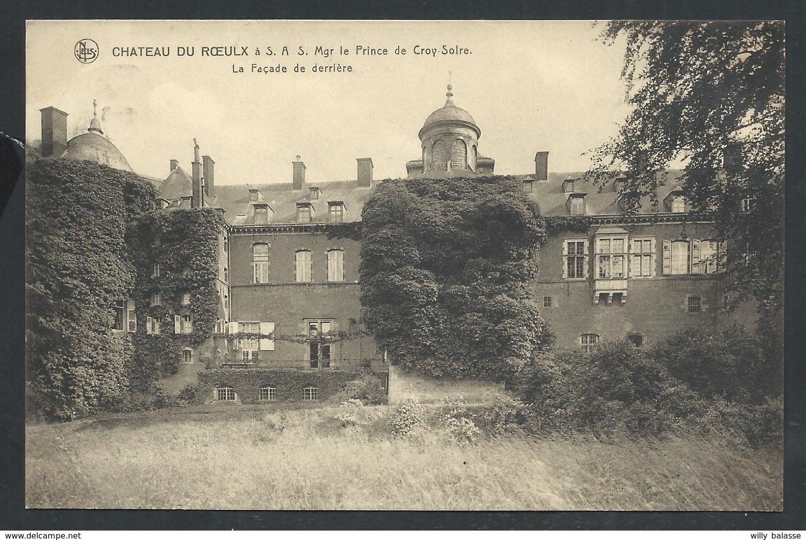 +++ CPA - Château Du ROEULX à Mgr Le Prince De Croy Solre - Façade De Derrière - Nels  // - Le Roeulx