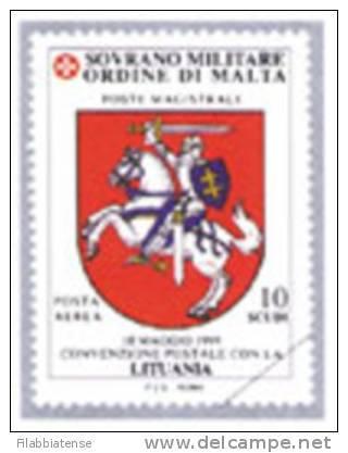 2000 - Sovrano Militare Ordine Di Malta PA 55 Stemma Della Lituania - Francobolli
