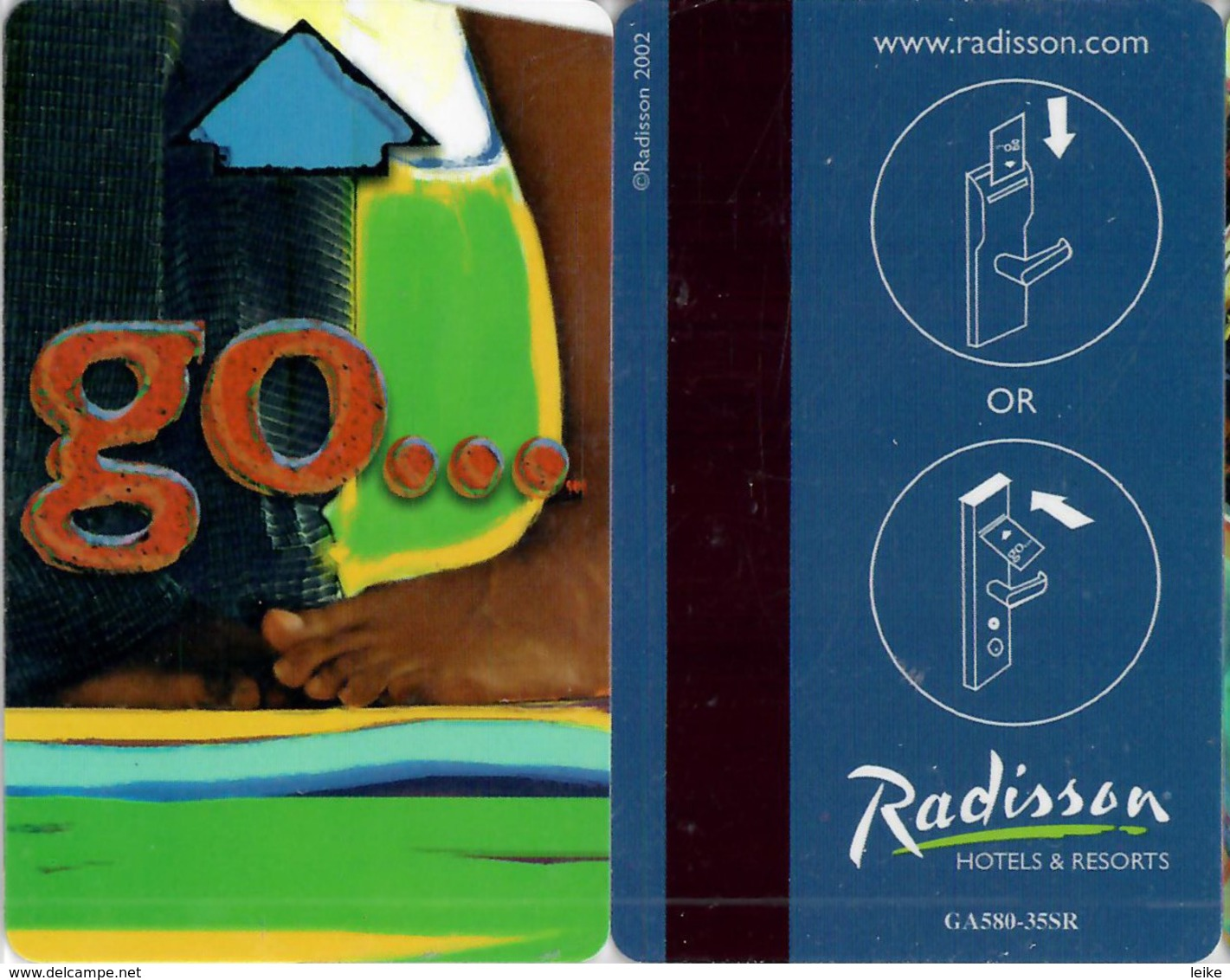 Radisson Go  ..-2199----key Card, Room Key, Schlusselkarte, Hotelkarte - Hotel Keycards