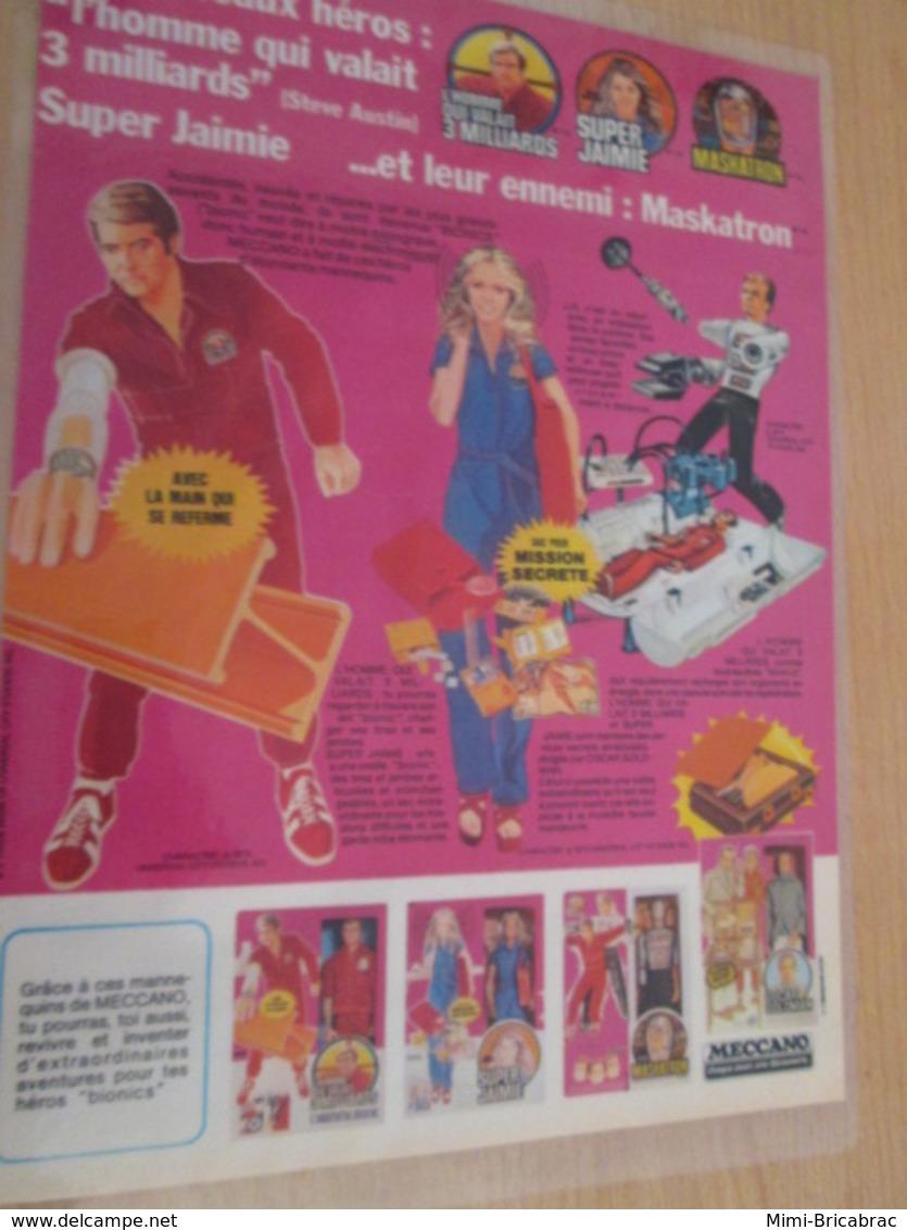 DIV415 : Clipping PAGE DE REVUE TINTIN ANNEES 60/70 EN COULEURS : SUPER JAIME STEVE AUSTIN ET MASKATRON (pas Georges) - Figurines