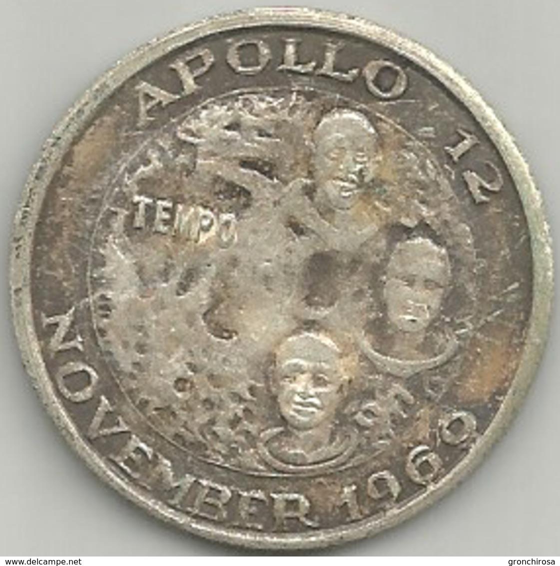 Primo Uomo Sulla Luna, Apollo 12 November 1969, Tempo, Mist, Gr. 13, Cm. 3,5. - Altri
