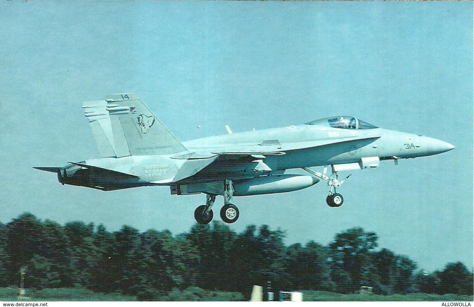 "3668 ""F-18C HORNET"" CARTOLINA POSTALE ORIG. NON SPEDITA - 1946-....: Era Moderna"