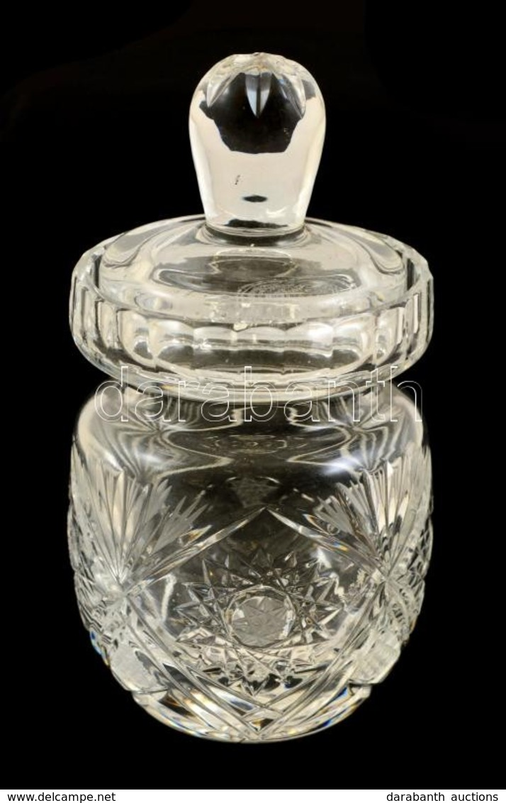 Ólomkristály Bonbonier, Csiszolt, Metszet, Hibátlan, M: 15 Cm - Glass & Crystal