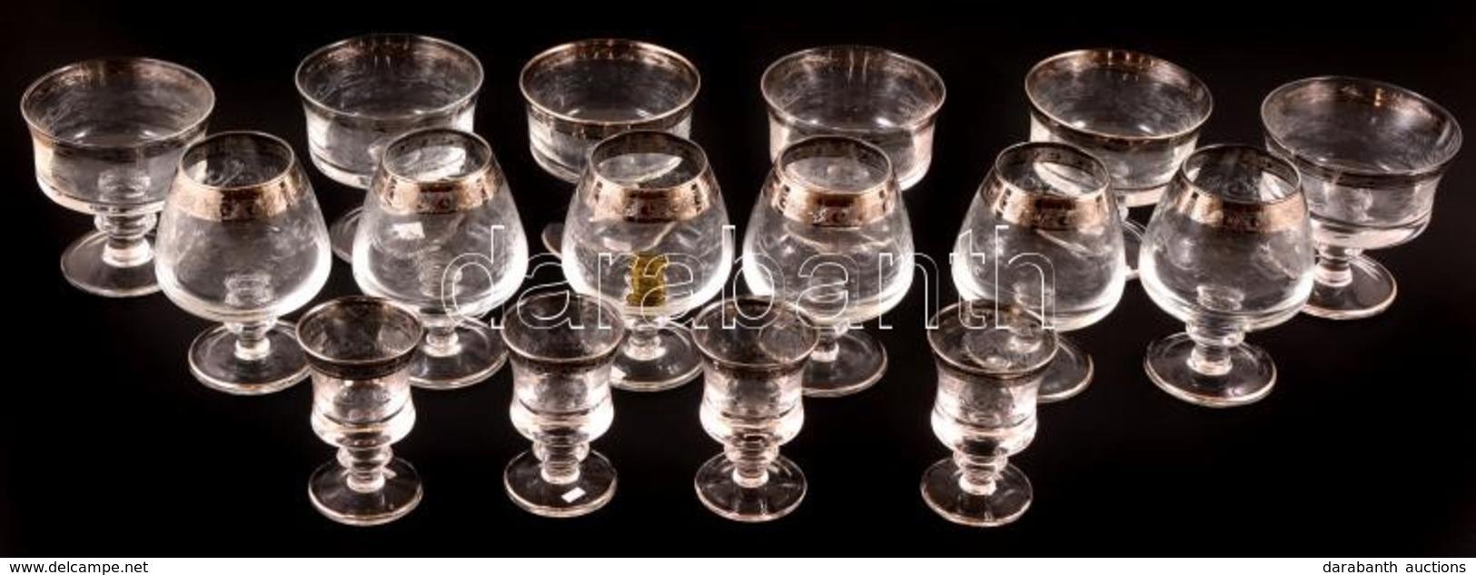 Muranói 'Medici' Poharak, Jelzettek, Hibátlanok, összesen: 16 Db - Glass & Crystal