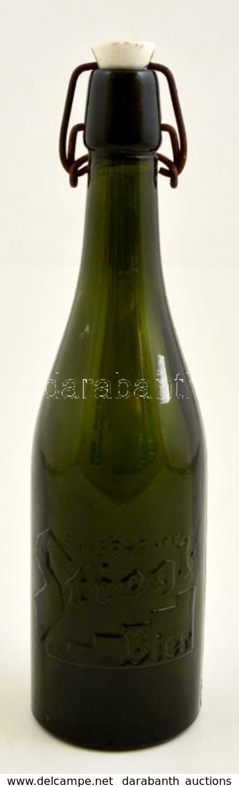 Cca 1920 Stiegl Csatos Palack, Jó állapotban, Hibátlan, M:28 Cm - Glass & Crystal