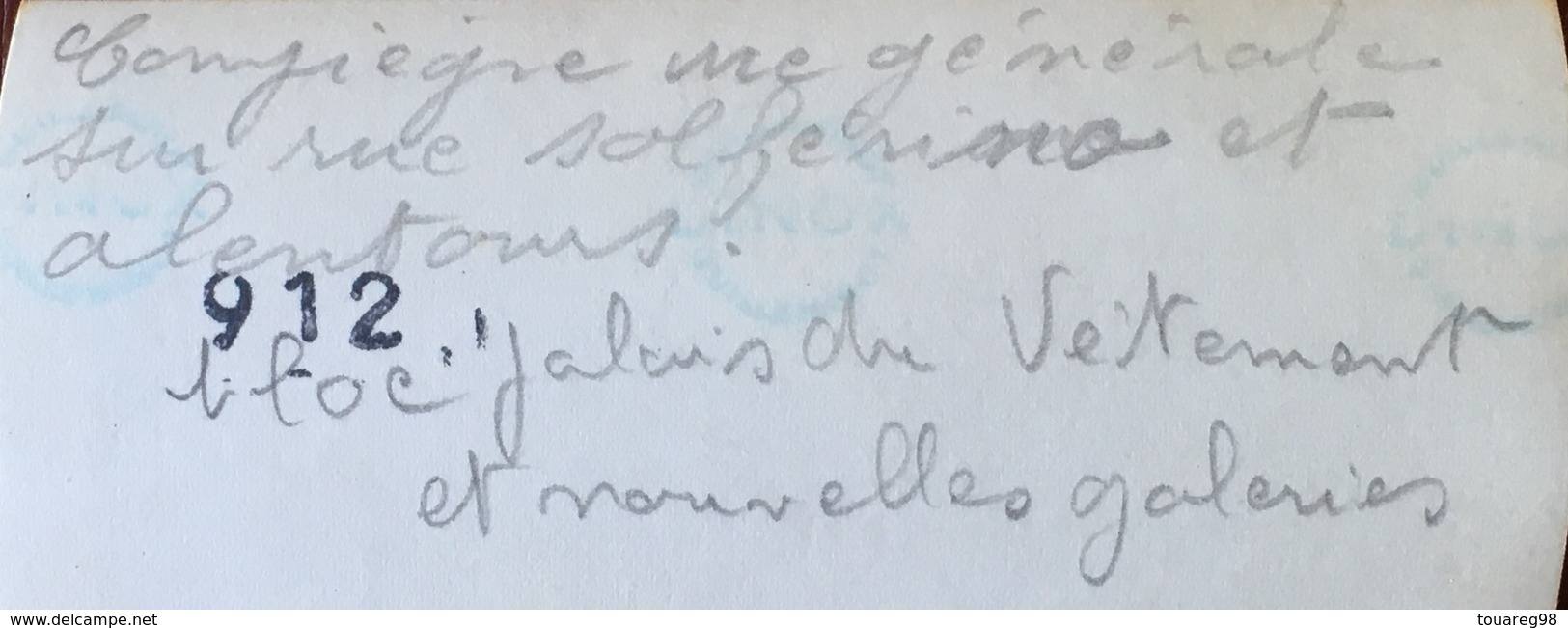 Compiègne. Guerre 1939-45. Destructions. WW2. WWII. Vue Générale Sur La Rue Solférino Et Alentours. Nouvelles Galeries. - Guerra, Militari