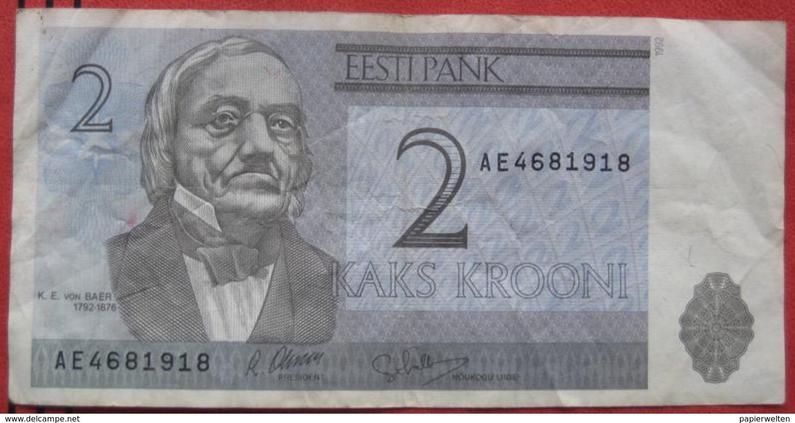 2 Krooni 1992 (WPM 70) - Estonia