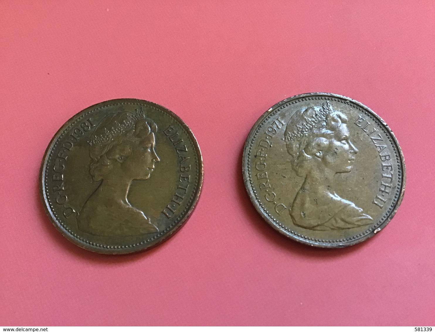 INGHILTERRA - ENGLAND  - 1971 - 1981 - 2 Monete Da  2 NEW PENCE - 2 Pence & 2 New Pence