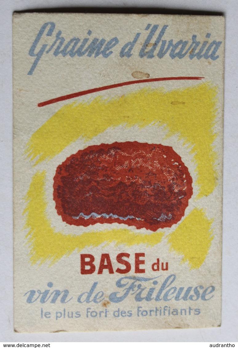 Ancienne Image Chromo Publicité Vin De Frileuse Le Plus Fort Des Fortifiants Graine D'Uvaria Sergent Marie - Vieux Papiers