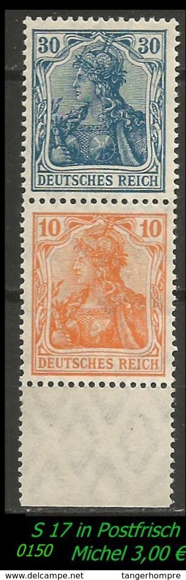 Postfrischer ZDR - Mi. Nr. S 17 - Zusammendrucke