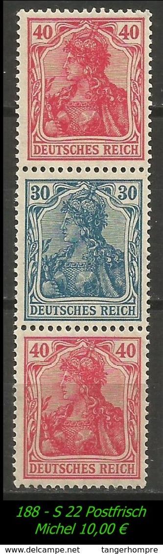 Postfrischer ZDR - Mi. Nr. S 22 - Zusammendrucke