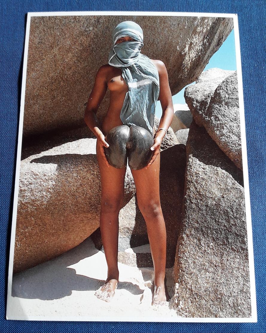 Nude BLACK/EBONY Girl > Sexy Young Woman COCO DE MER, SEYCHELLES Jeune Femme Nu > Photo-Erotikpostkarte (ake264) - Fine Nudes (adults < 1960)