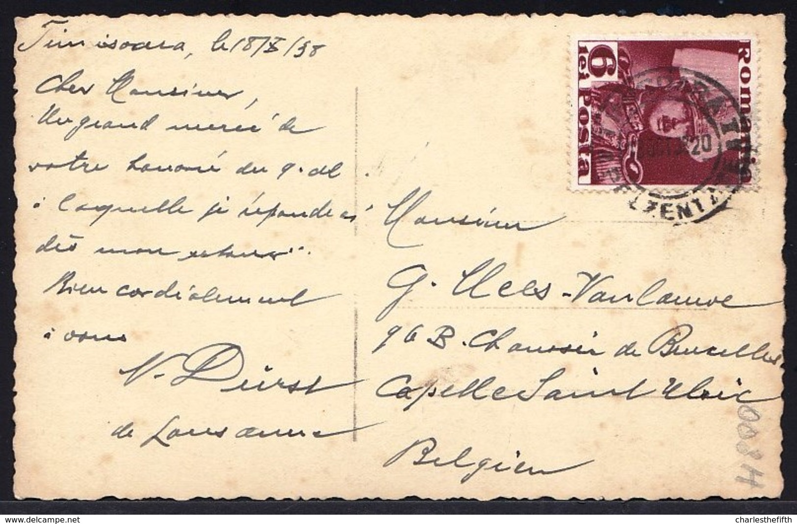 ROMANIA - ROUMANIE -- CARTE PHOTO 1938 * TIMISOARA - TEATRUL COMUNAL * -  Tram - RARE ! - Roumanie