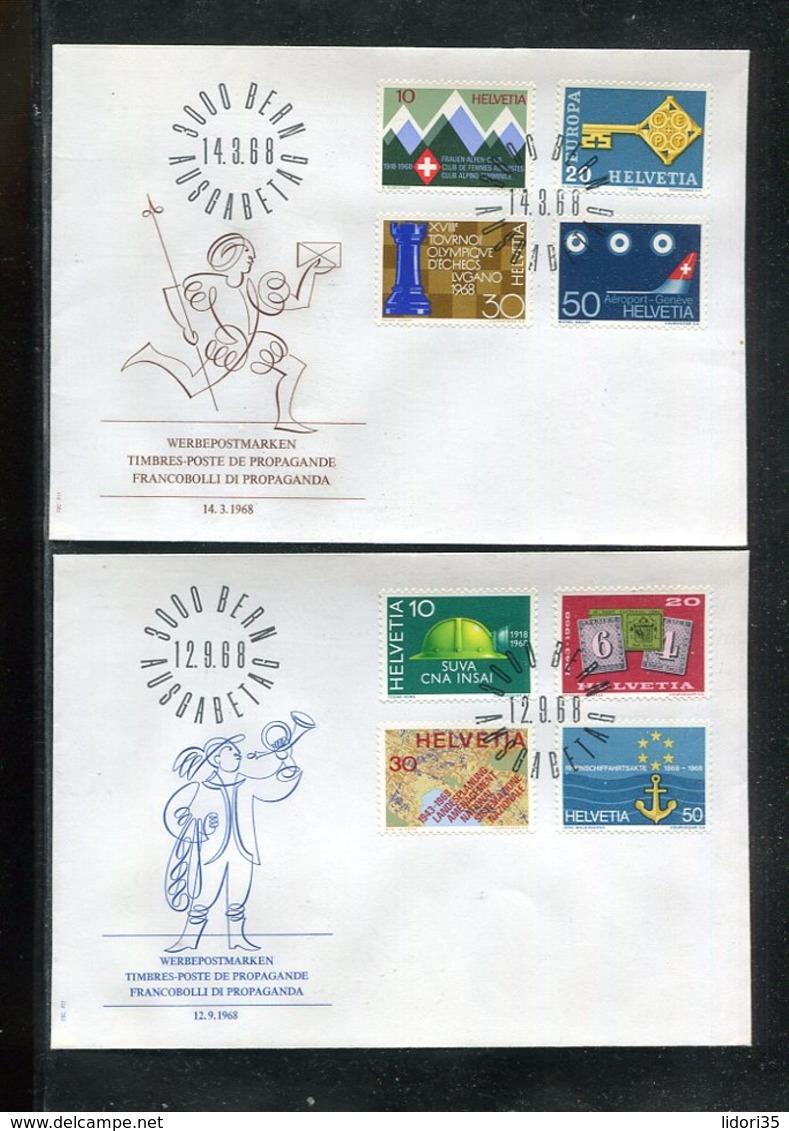 Schweiz / Lot Mit 14 FDC (13445-70) - Vrac (max 999 Timbres)