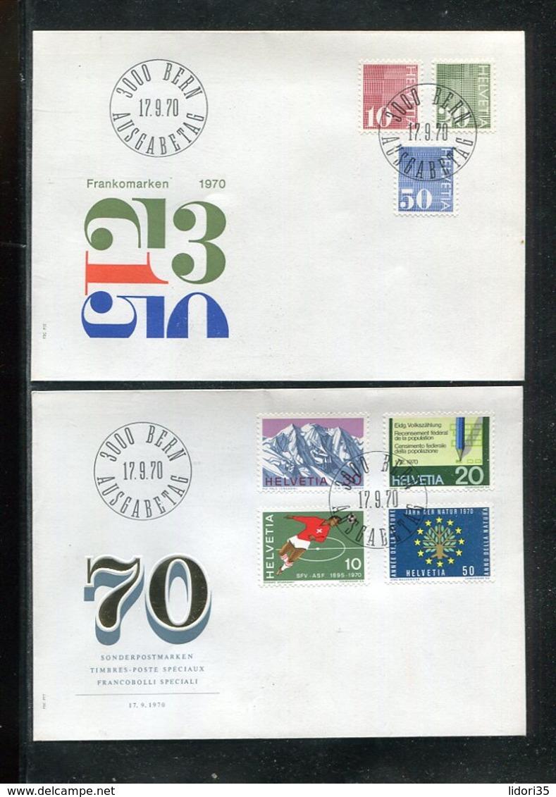 Schweiz / Lot Mit 14 FDC (13445-70) - Lots & Kiloware (mixtures) - Max. 999 Stamps
