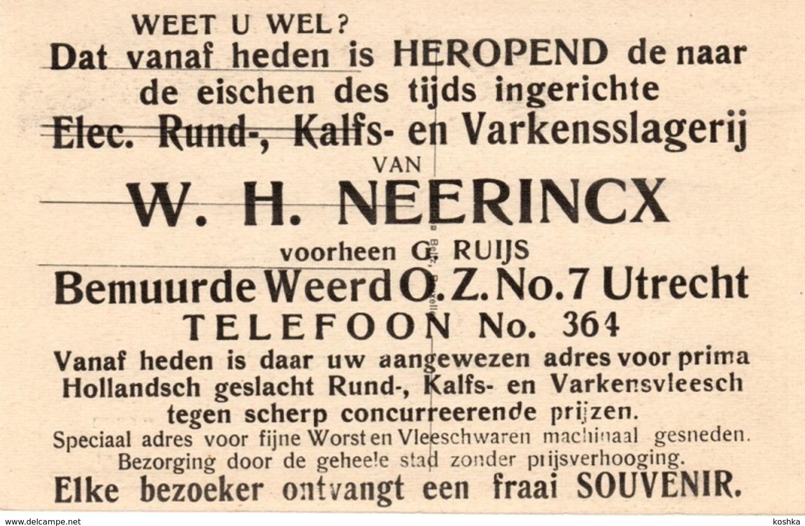 Mortsel Oude God - Station - Speciale Publiciteitskaart Voor Beenhouwer In Utrecht - C - Mortsel