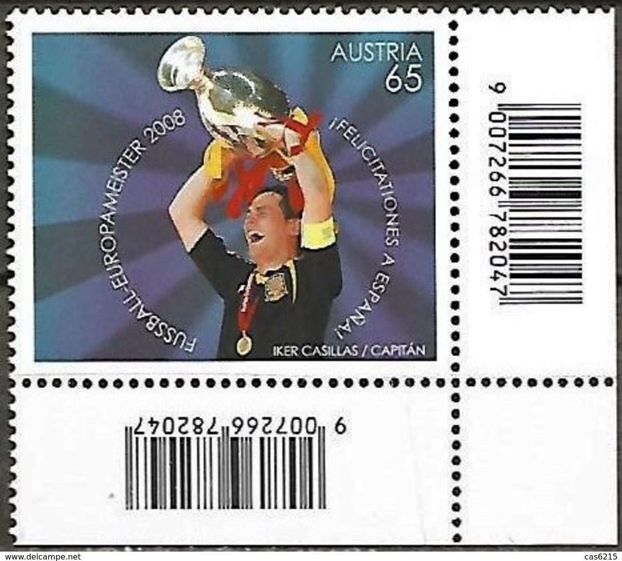 Autriche Austria Österreich 2008 UEFA EURO Le Football Espagne Joueur Casillas Coupe, 1 Val  Mnh - Fußball-Europameisterschaft (UEFA)