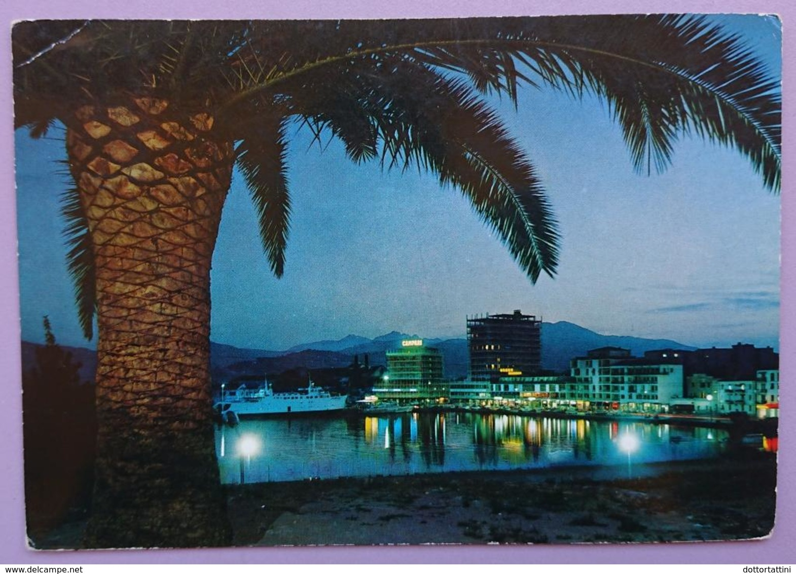 ISOLA D'ELBA - PORTOFERRAIO - IL NUOVO PORTO NOTTURNO - Harbour, Port, Palm - Vg T2 - Italia