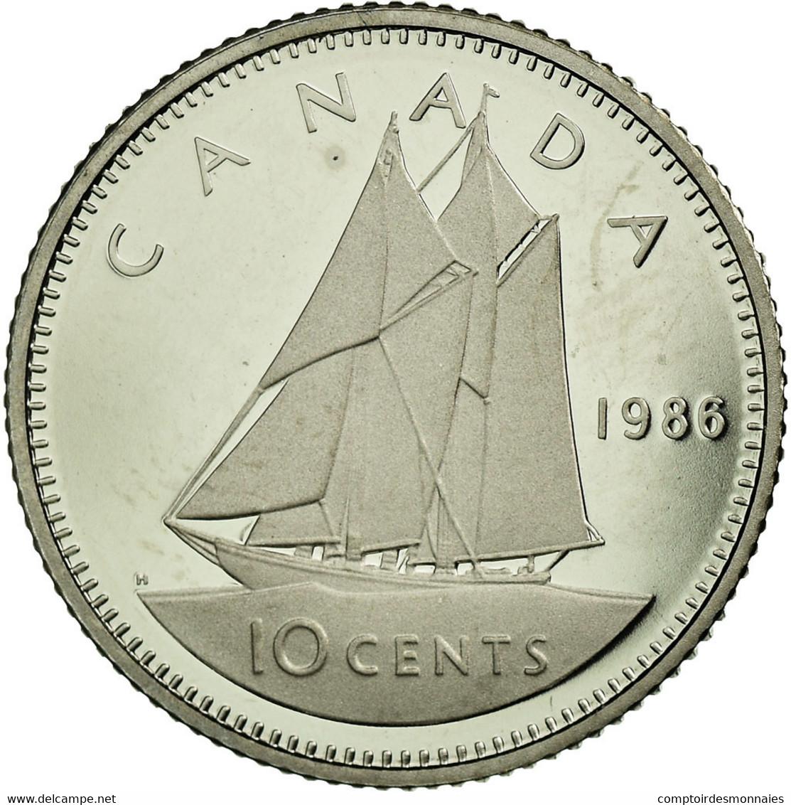 Monnaie, Canada, Elizabeth II, 10 Cents, 1986, Royal Canadian Mint, Ottawa, FDC - Canada
