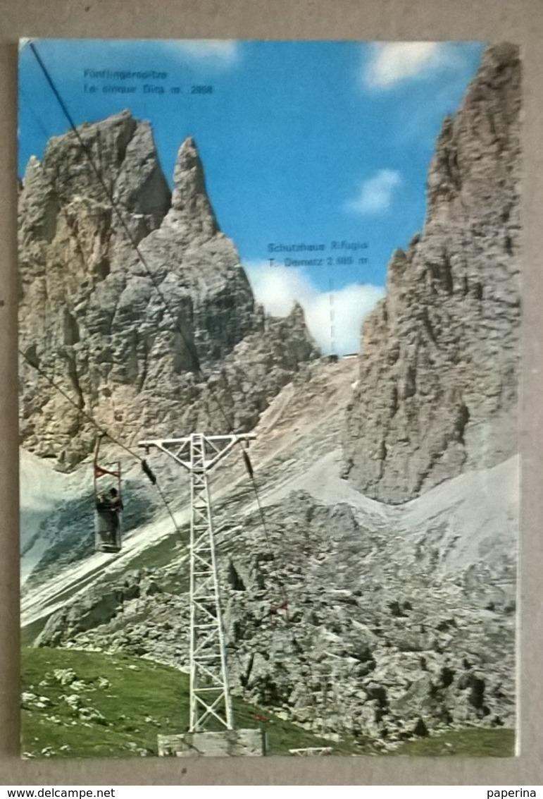 CABINOVIA GRUPPO DEL SASSOLUNGO  (388) - Cartoline