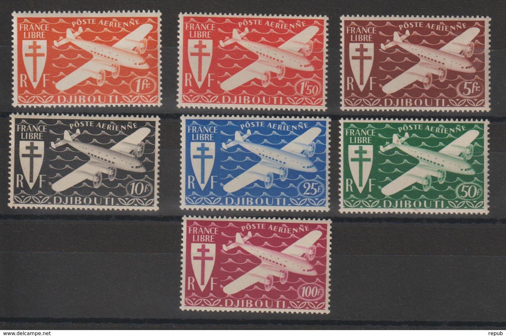 Cote Des Somalis 1943 Série PA 1 à 7 7 Val Neuf ** MNH - Französich-Somaliküste (1894-1967)