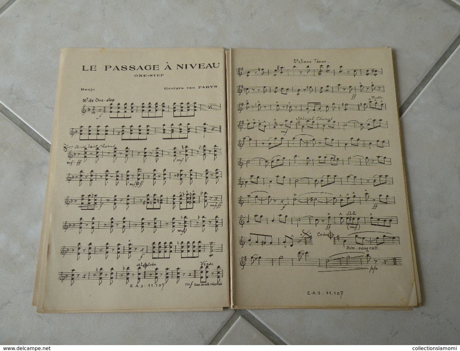 Le Passage à Niveau Du Fim Prends La Route(Paroles J. Boyer)(Musique G. Van Parys)Partition Pour Orchestre 1937 - Musique & Instruments